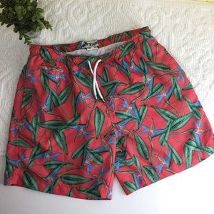 Trunks Surf & Swim Short Tropical Trunks Sz. M